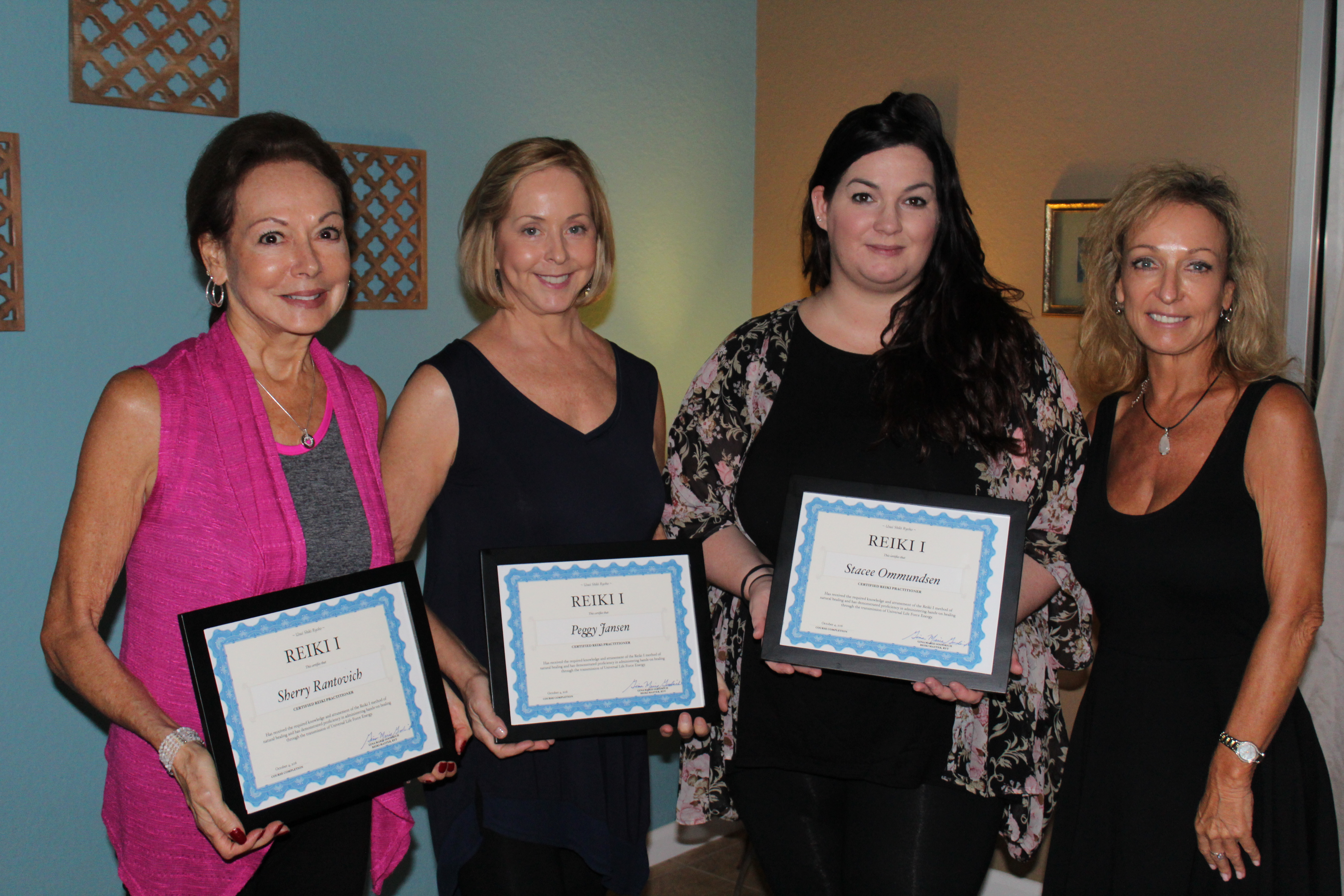 Our third class of certified Reiki practitioners, ready to heal themselves and others!