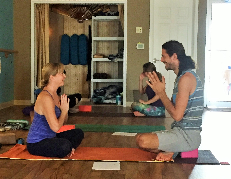 Partner Pranayama Exercise